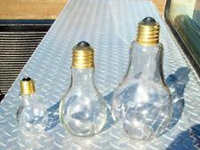 Glass Light Bulb Jar Lot 3 Different Sizes Multi-Purpose Kitchen Office Novelty