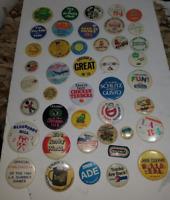 43 Vintage Mixed Pin Back Lot
