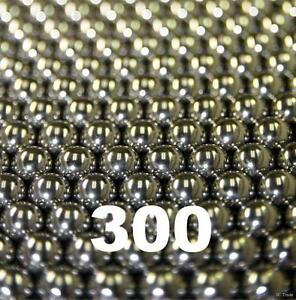 "300 Stainless Steel Bearing Balls Assortment 50 ea. of Sizes 3/32"" Thru 1/4""inch"