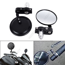 "CNC Motorcycle Bar End Mirrors Rearview Side Round 7/8"" Motorbike Universal NEW"