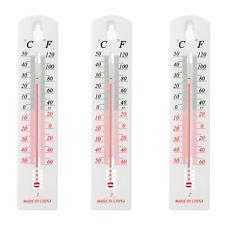 Thermometer Außen Innen Garten Außenthermometer analog Gartenthermometer 3er Set