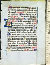 Ca.1280 illuminated manuscript breviary  lf.with gold-heightened initials,France