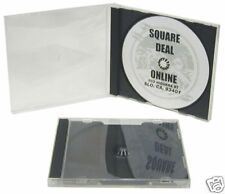 (5) CDBIS10DG Empty Clear CD Jewel Boxes Cases Gray Black Trays Assembled 10.4MM