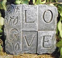 Love plastic mould mold  concrete plaster plaque mould