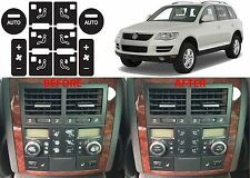 Rear Climate Control Decal Button Stickers For 2004-2009 Volkswagen Touareg New