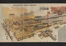 Werbung 1950, Durch die weite Welt - Ein Buch für jeden Jungen Großstadtbahnhof