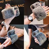 Soft Warm Plush Fluffy Phone Case Cover Comfy Faux Fr Fur iPhone X XR XS Max 8 7