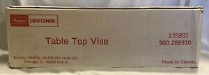Vintage Sears Craftman Table Top Vise 9 28893 - Woodworking New in Box