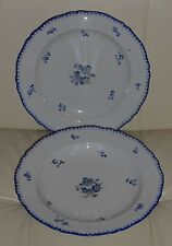 "2 ANTIQUE BOHEMIA POTTERY SERVING PLATTERS 11 1/8"" WIDE"