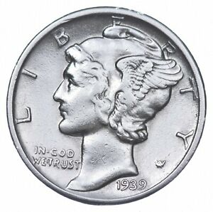 Razor Sharp 1939-D Mercury Liberty Dime 90% Silver - Stunning in High Grade *957
