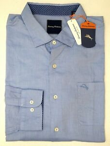 NWT $135 Tommy Bahama Long Sleeve Blue Violet Shirt Mens Button NEW