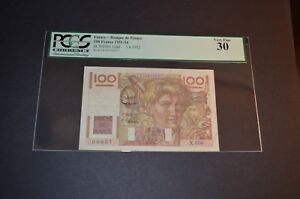PCGS Currency France- Banque de France 30 Very Fine banknote