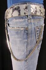 New Men Silver Metal Wallet Chain Fashion Key Thin Motorcycle Rocker Jeans Biker