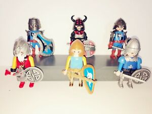 PLAYMOBIL - 6 MIXED KNIGHTS WITH ACCESSORIESS