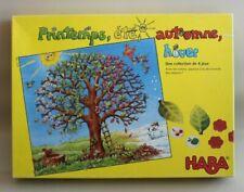 Très beau jeu éducatif HABA en bois sur les saisons Printemps Été Automne Hiver
