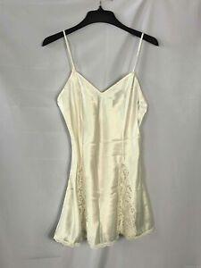 Vintage Victoria's Secret Ivory Short Slip Dress  - Size Medium Women's