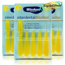 3x cepillos Oral Cuidado sabiduría Interdental Amarillo 0.7 mm fino elimina Placa