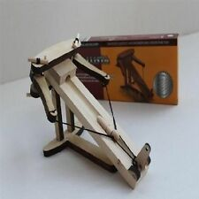 Kit Wooden Warfare Ballista Catapult Weapon Desktop Miniature Medieval Build Toy