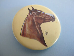 Horse Portrait Large Badge Artist signed C Meyer 50mm dia
