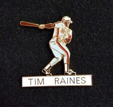 1 VINTAGE TIM RAINES MLB PLAYER PIN 1980's RARE HOF CLASSIC MONTREAL EXPOS