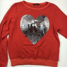 Wildfox Heart Disco Heart Red Big Baggy Jumper BBJ Oversized XS Valentines Day