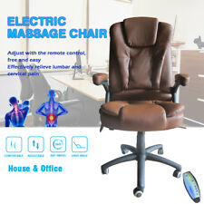 Coffee Massage Chair Home Office Racing Desk Chair Executive Ergonomic Vibrating