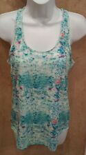 NWT, CONVERSE ALL STAR WOMEN'S MULTICOLOR BLUE GREEN ATHLETIC TANK TOP SMALL