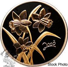 Canada 2003 50 Cents Golden Daffodil Silver Coin