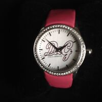 Women's Wristwatch Ladies DOLCE and GABBANA D&G With Pink Leather Watch Strap