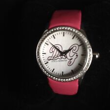 DOLCE and GABBANA D&G Ladies Wristwatch Watch Pink Leather Strap Working