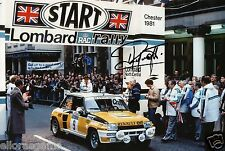 """World Rally Championship Driver Jean Ragnotti Hand Signed Photo 12x8""""  AH"""