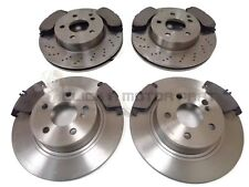 MERCEDES C220 CDi AMG SPORT W204 2007-2013 FRONT & REAR BRAKE DISCS AND PADS SET