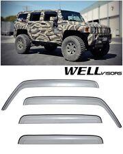 For 06-10 Hummer H3 WellVisors Premium Sleek HD Side Window Visors Smoke