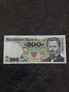 Pologne - Billet de 200 Zlotych - 1988 Etat: Neuf