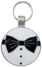 Engraved Pet Tag TUXEDO - Free Name & Phone number engraved on tag