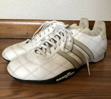 ADIDAS Tuscany White Tan Racing Shoes Sneakers Goodyear Soles Mens Size 6