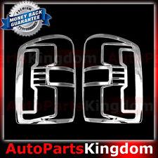 15-16 GMC Sierra 2500+3500+HD Truck Chrome Taillight Tail Light Trim Bezel Cover