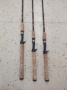 FENWICK HMG CASTING Rods vintage  lot of 3 rods
