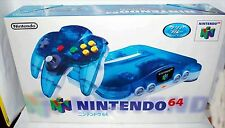 Nintendo 64 N64 Console System Clear Blue Japan Import Brand New