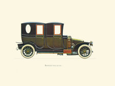 Canvas Print Vintage Car Poster Illustration - RENAULT 1910 (20 CV)