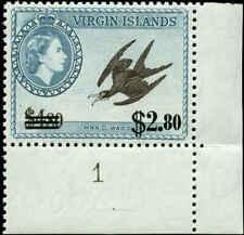 Virgin Islands Scott #139 SG #173 Plate # Single Mint Never Hinged