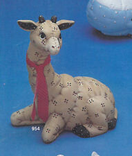 """Softy Giraffe 8"""" Ceramic Bisque, Ready To Paint"""