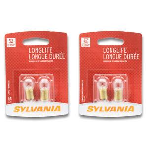 Sylvania Long Life - Two 2 Packs - 55LL Light Bulb Radio Dial Radio Display sq