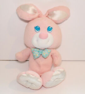 Fisher Price Pink Cozies Thermal Waffle Weave Bunny Rabbit Plush Satin 1994