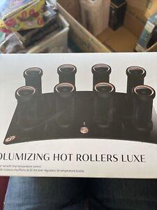 T3 Volumizing Hot Rollers Luxe Premium Hair Curler Roller Set Black 73709 w/case