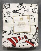Pottery Barn PB Teen Peanuts Organic Holiday Flannel Full Sheet Set