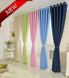 Pair Star Type Ring Top Eyelet Ready Made Curtains- For Agreed Custom Order Only