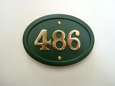 Oval house number sign/plaque in a choice of colours - any number from 1 to 999