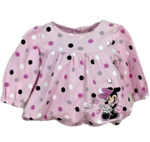 Disney Minnie Mouse Dress Size 3-6 Month Girls Pink Polka Dot Birthday Party