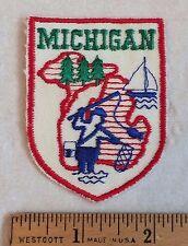 Vintage MICHIGAN State Fishing Sailing Souvenir Patch Badge